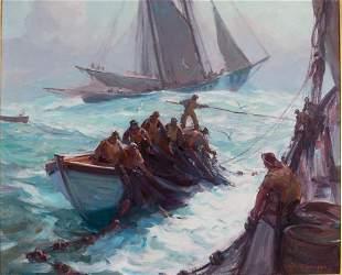 Emile Albert Gruppe (1896-1978) On Fish