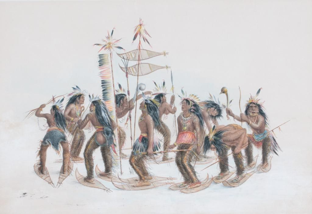 George Catlin (1796-1872) The Snow-Shoe Dance