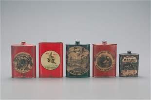 Five Powder Tins