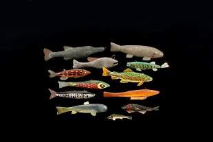 One Dozen Fish Decoys