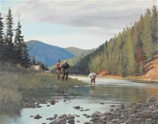 Brett James Smith (b. 1958), Fishing by Camp