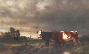 J. Carleton Wiggins (1848-1932), Cows in a Pasture
