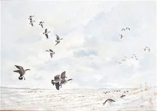 Lemuel T. (Lem) Ward (1896-1984), Canada Geese