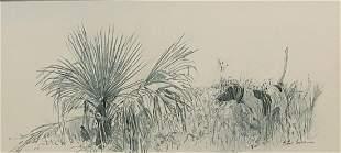 Peter Corbin (b. 1945), Two Pencil Drawings