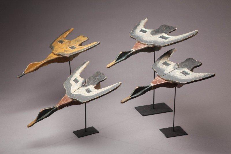 113: Four Flying Mallards