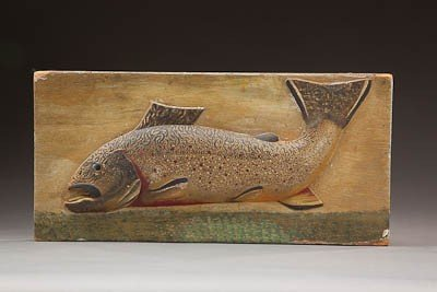 132: Relief Carved Brook Trout