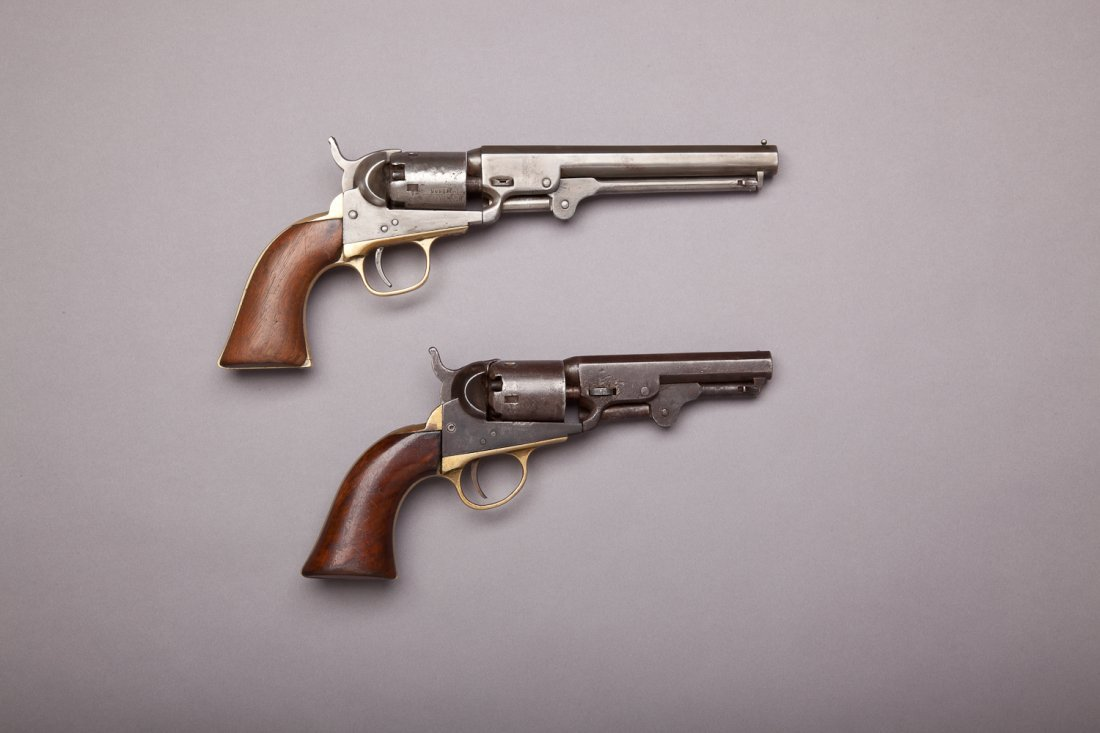 251: Two Colt 1849 Pocket Model Revolvers