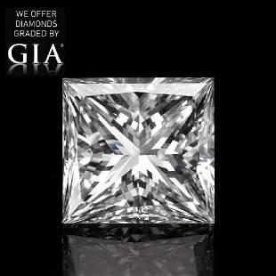 102 ct Color EVVS1 Princess cut Diamond