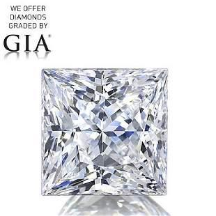 100 ct Color DVS2 Princess cut Diamond