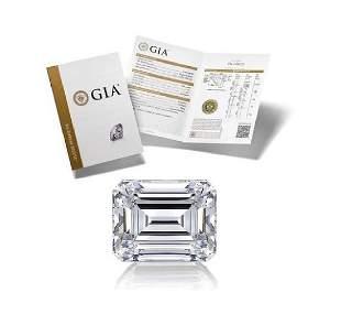 102 ct Color EIF Emerald cut Diamond