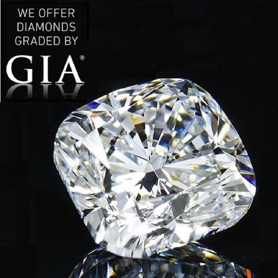 2.01 ct, Color D/VVS2, Cushion cut Diamond
