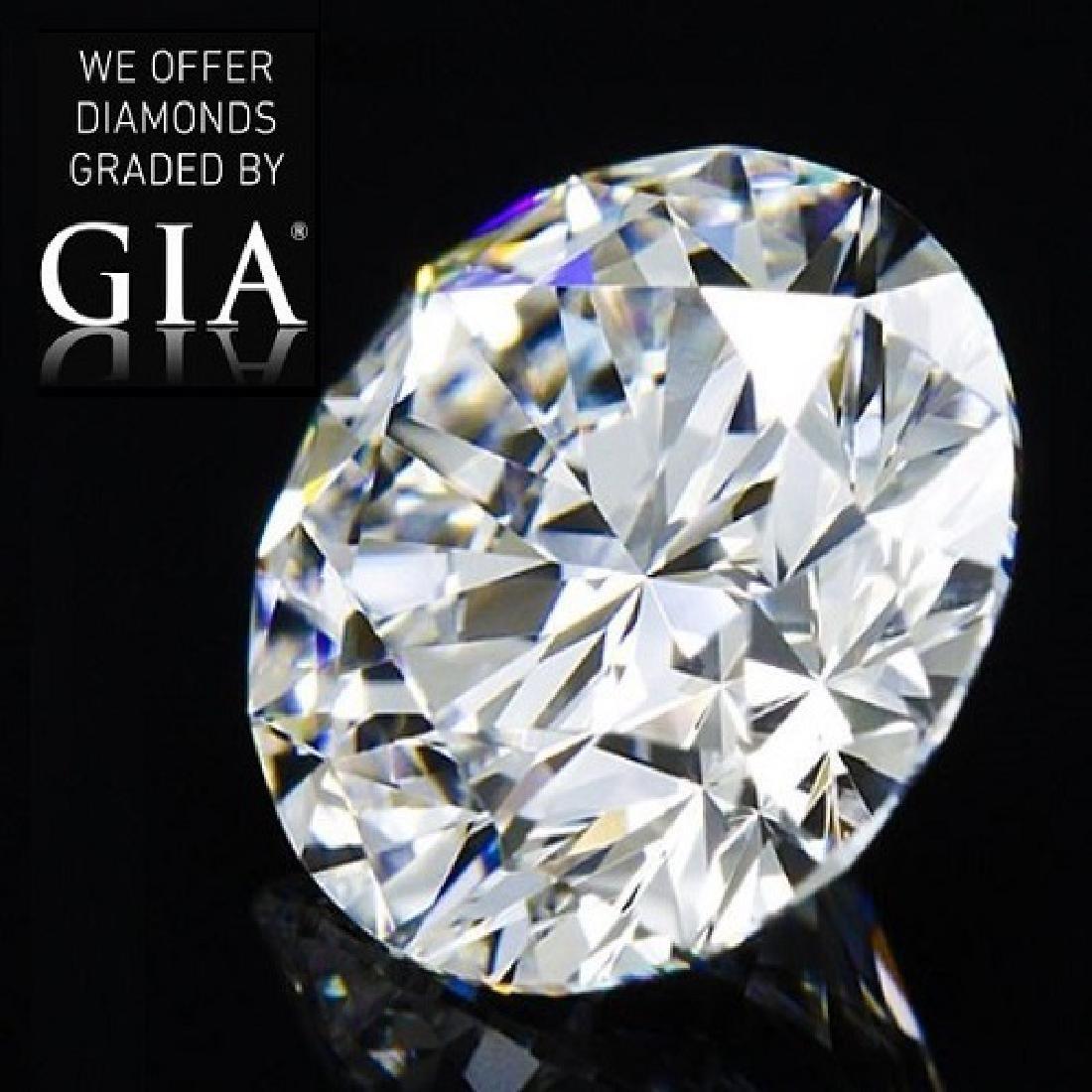 3.62 ct, Color H/VVS2, Round cut Diamond