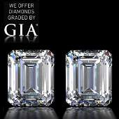 10.04 ct Emerald cut Diamond Pair