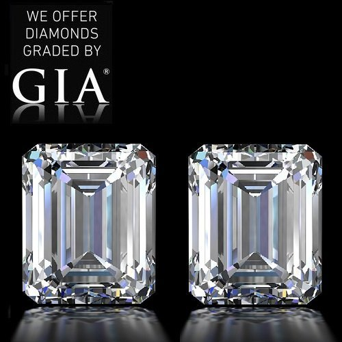 10.04 ct Emerald cut Diamond Pair