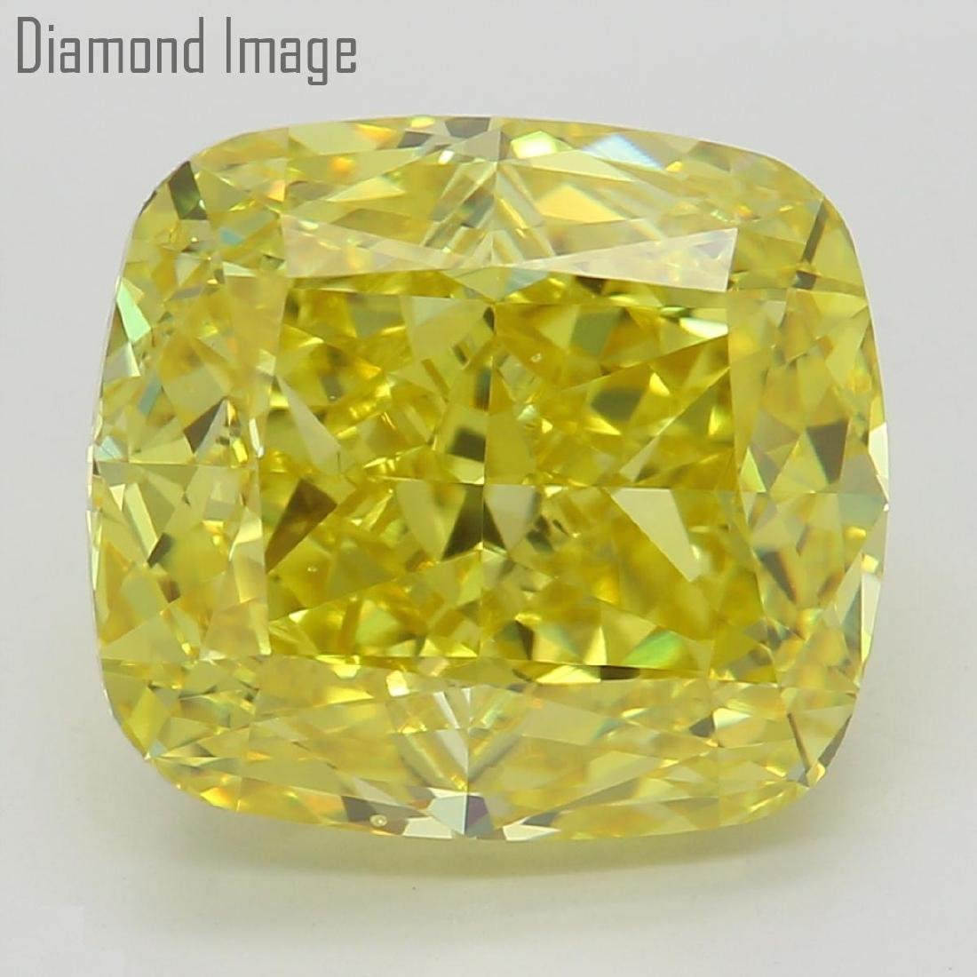 6.02 ct, Natural Color/VS2, Cushion cut Diamond