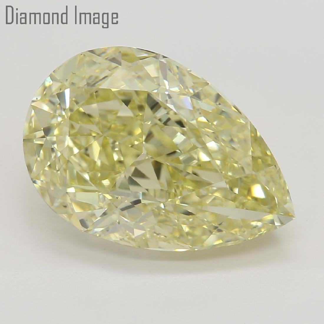 4.23 ct, Natural Color/VS2, Pear cut Diamond