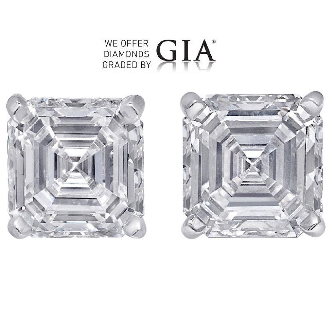 5.05 ct Sq. Emerald cut Diamond Pair