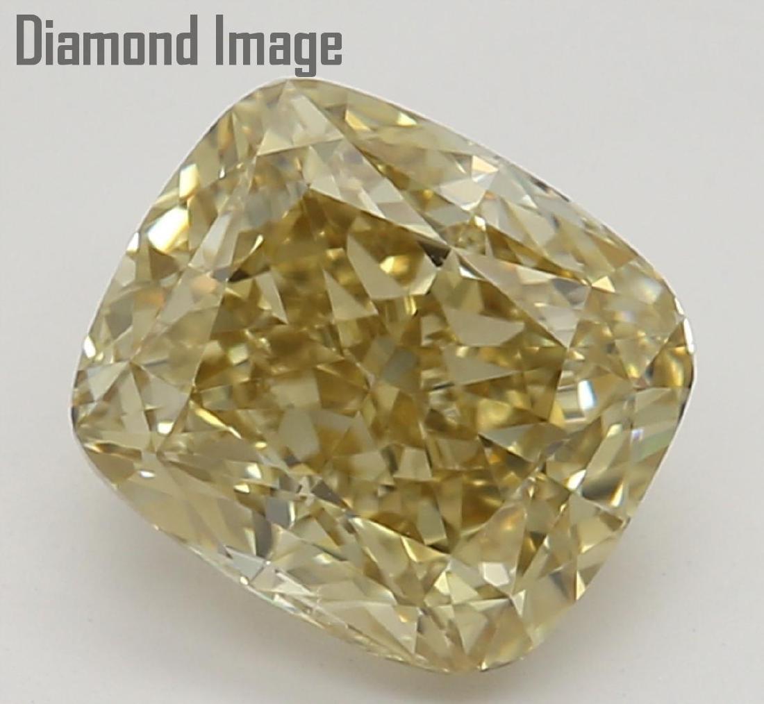 1.00 ct, Brownish Yellow Even/VS1, Cushion cut Diamond