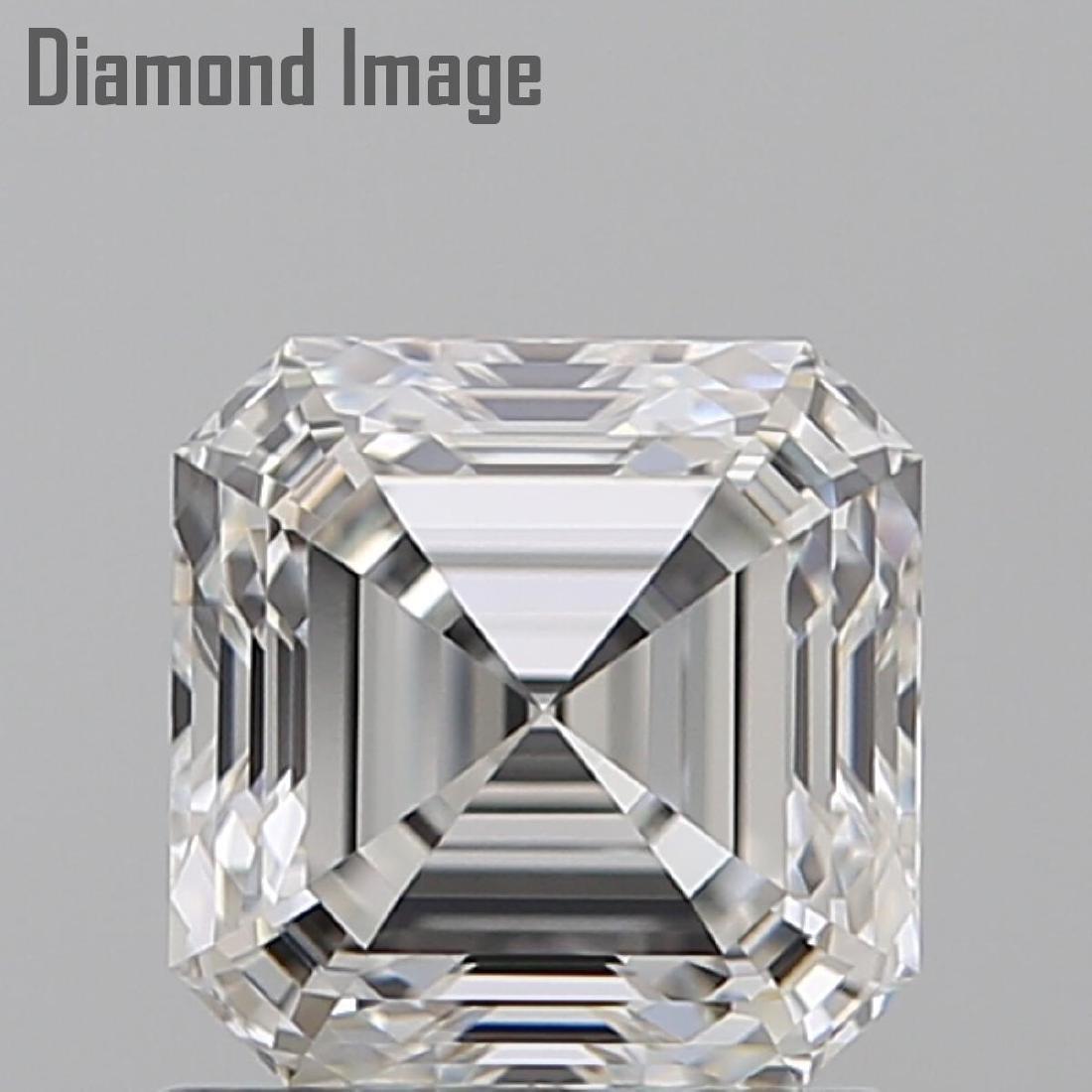 1.02 ct, Color G/VVS1, Sq. Emerald cut Diamond - 2