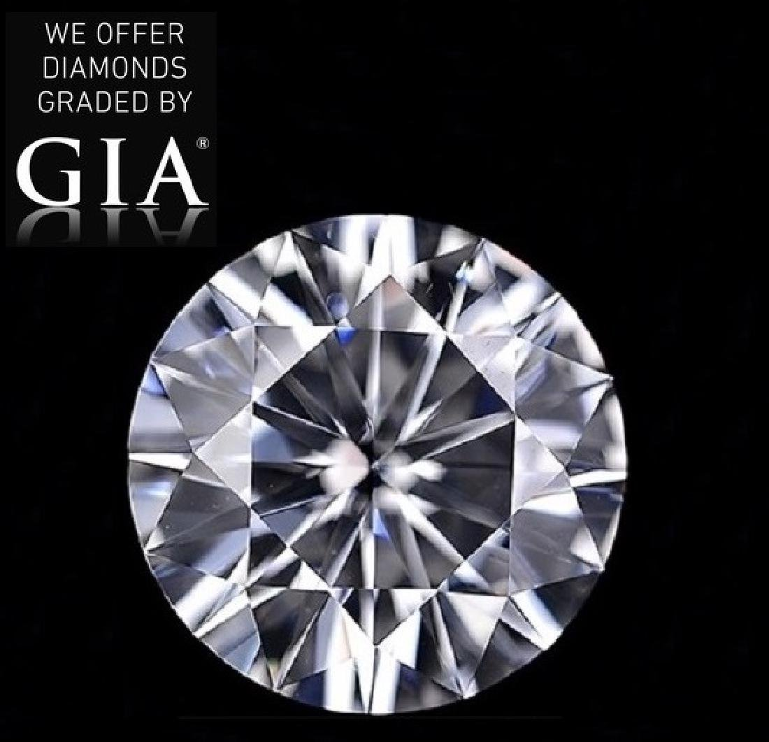 3.56 ct, Color G/VVS1, Round cut Diamond