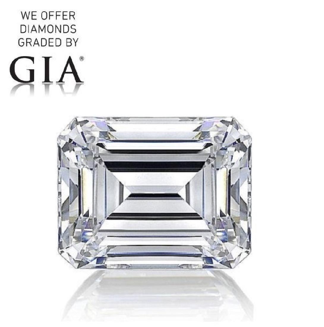 1.01 ct, Color F/VS2, Emerald cut Diamond
