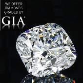 5.02 ct, Color F/VVS2, Cushion cut Diamond