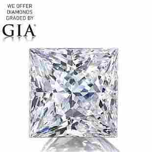 102 ct Color GVS2 Princess cut Diamond
