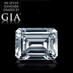 101 ct Color HVVS1 Emerald cut Diamond
