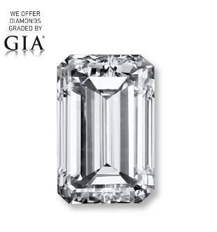 100 ct Color GVVS2 Emerald cut Diamond