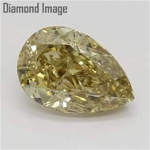 117 ct Brownish Yellow ColorVS2 Pear cut Diamond