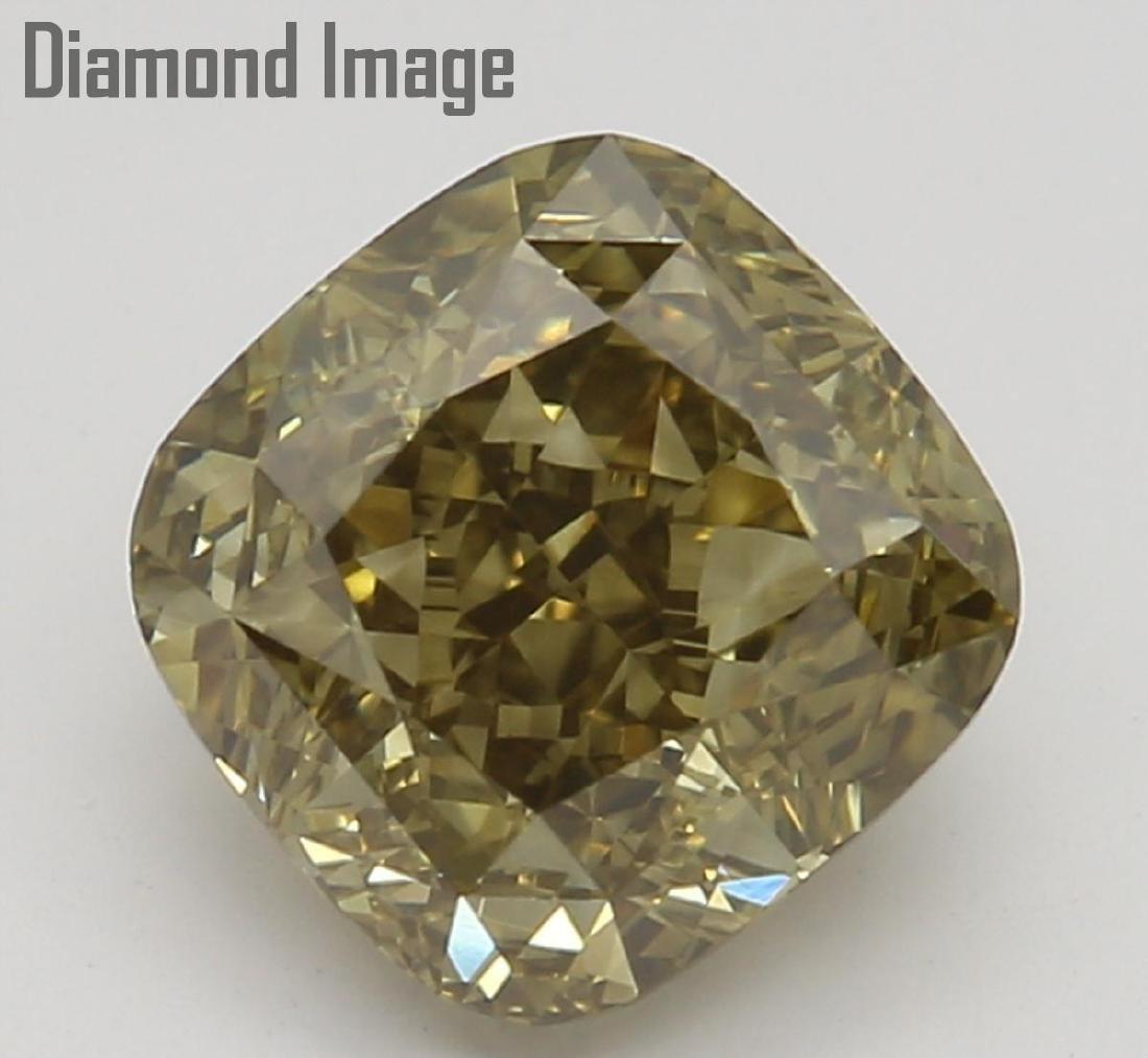 1.24 ct, Dark Brown-Yellow /VS1 , Cushion cut Diamond