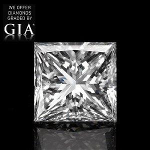 2.02 ct, Color G/VS1, Princess cut Diamond