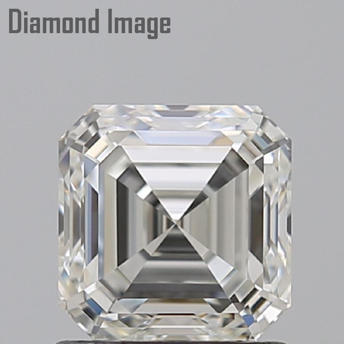 1.02 ct, Color I/VVS2, Sq. Emerald cut Diamond - 2