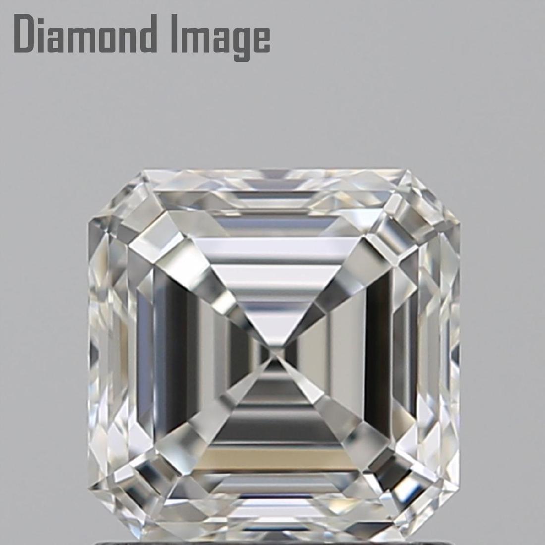 1.01 ct, Color H/VVS1, Sq. Emerald cut Diamond - 2