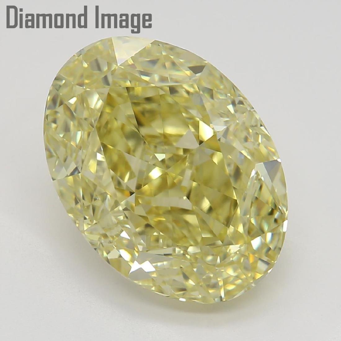 3.51 ct, Fancy Yellow/VVS2, Oval cut Diamond