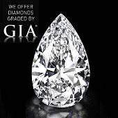 101 ct Color FVS1 Pear cut Diamond