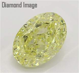 301 ct YellowVS1 Oval cut Diamond