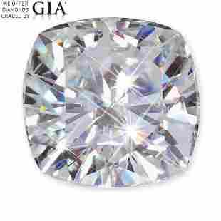 102 ct Color HVS2 Cushion cut Diamond