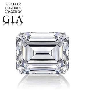 100 ct Color GVS2 Emerald cut Diamond