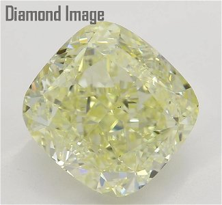 3.30 ct, Lt. Yellow/VS2, Cushion cut Diamond