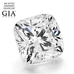 3.01 ct, Color D/FL, Cushion cut Diamond