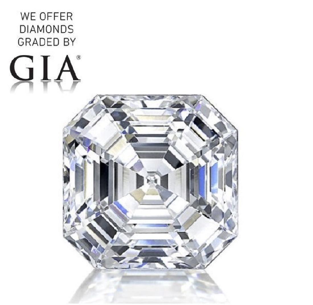 3.01 ct, Color F/VVS1, Sq. Emerald cut Diamond