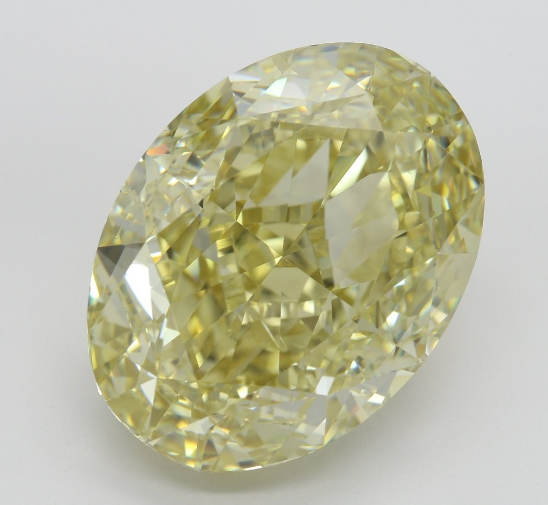 27.27 ct, Brown Yellow/SI1, Oval cut Diamond