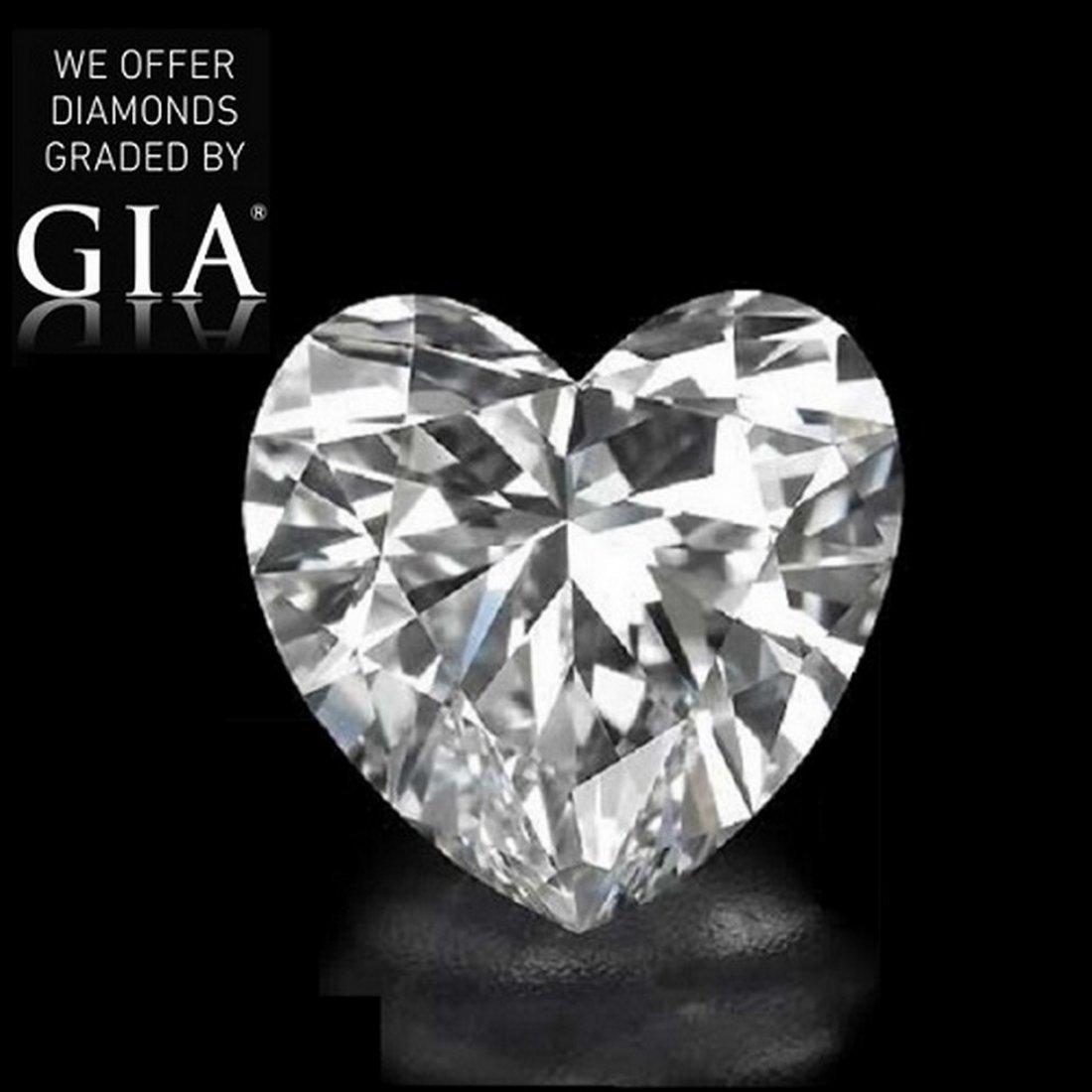 3.45 ct, Color D/FL, Heart cut Diamond