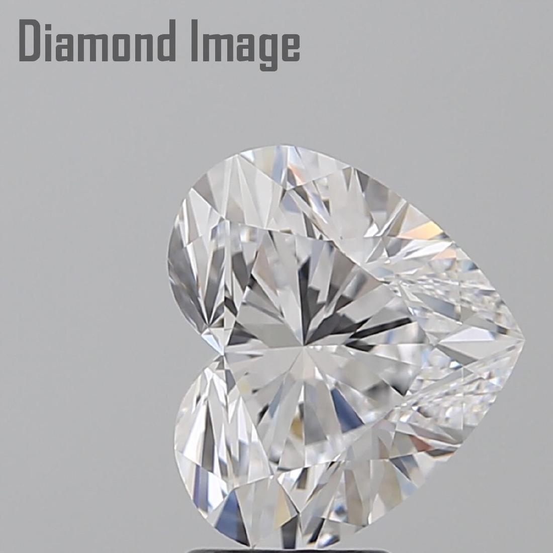 3.45 ct, Color D/FL, Heart cut Diamond - 2