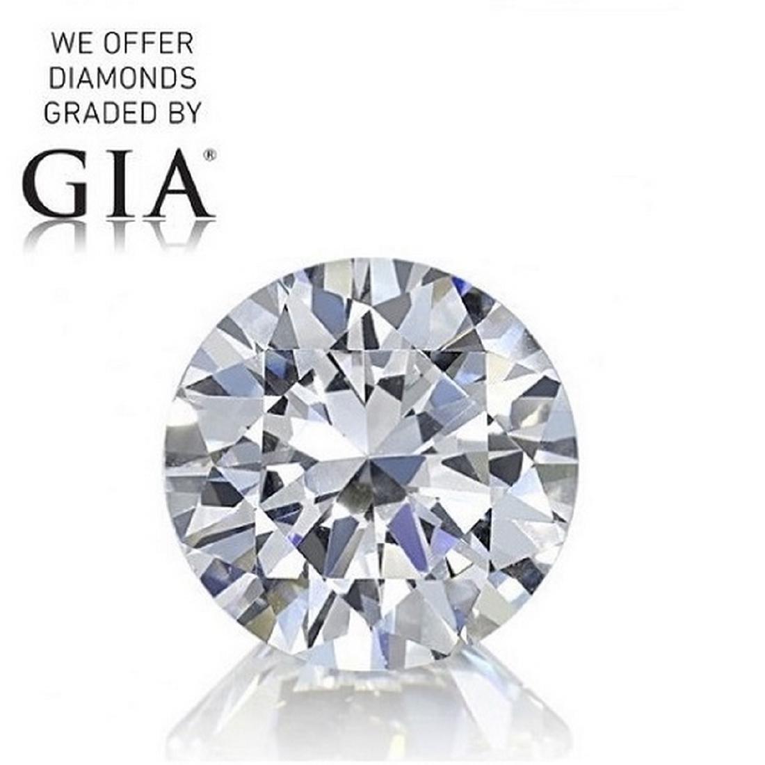 2.01 ct, Color D/VVS2, Round cut Diamond