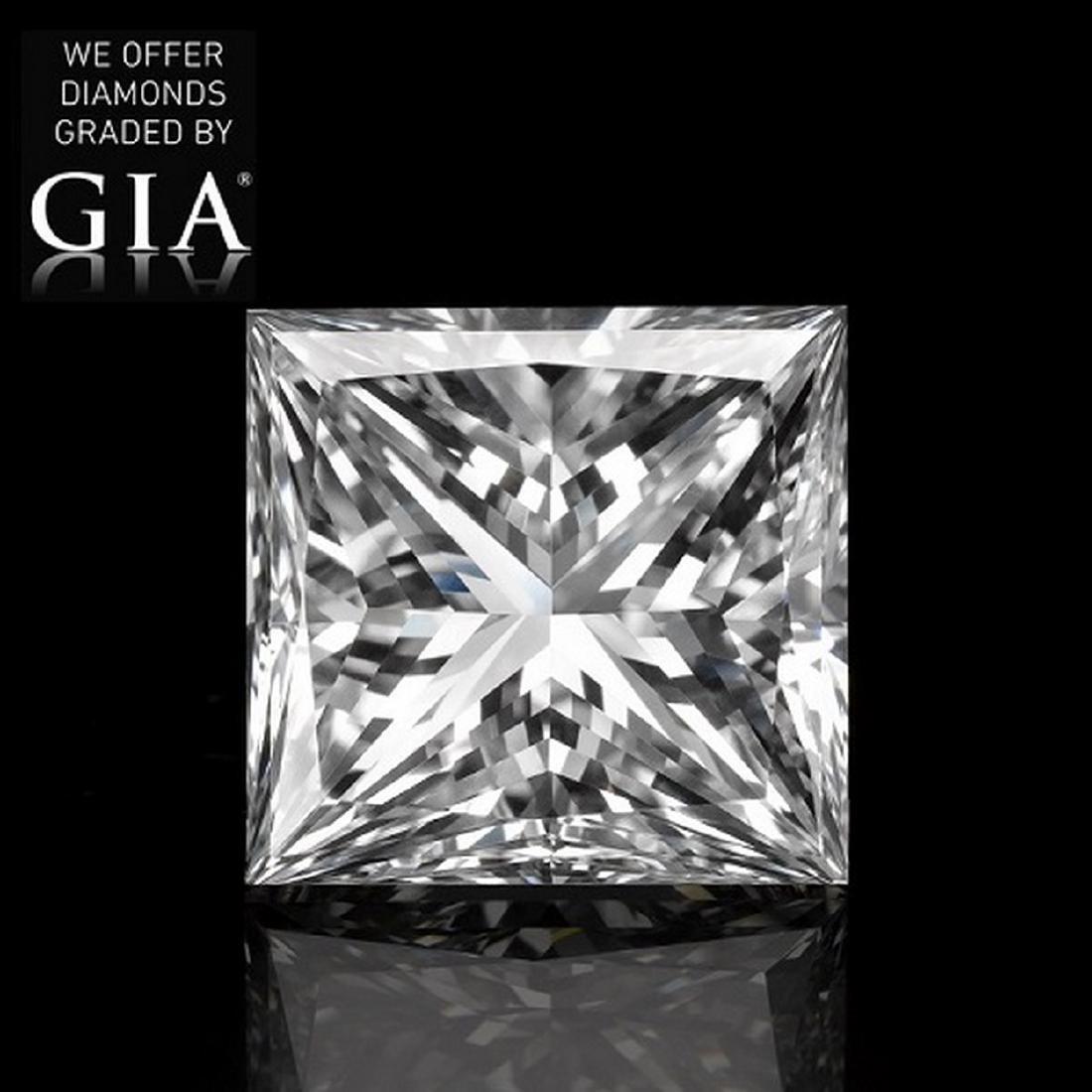 2.01 ct, Color E/VS2, Princess cut Diamond