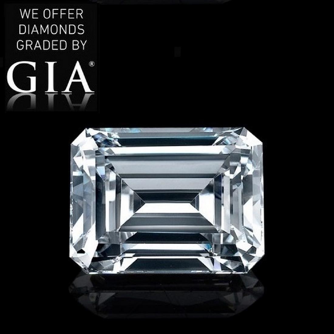 2.51 ct, Color F/VVS2, Emerald cut Diamond