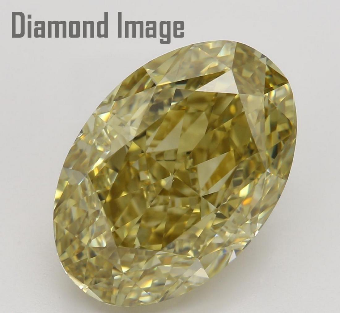 6.12 ct, Brown Yellow/VS1, Oval cut Diamond