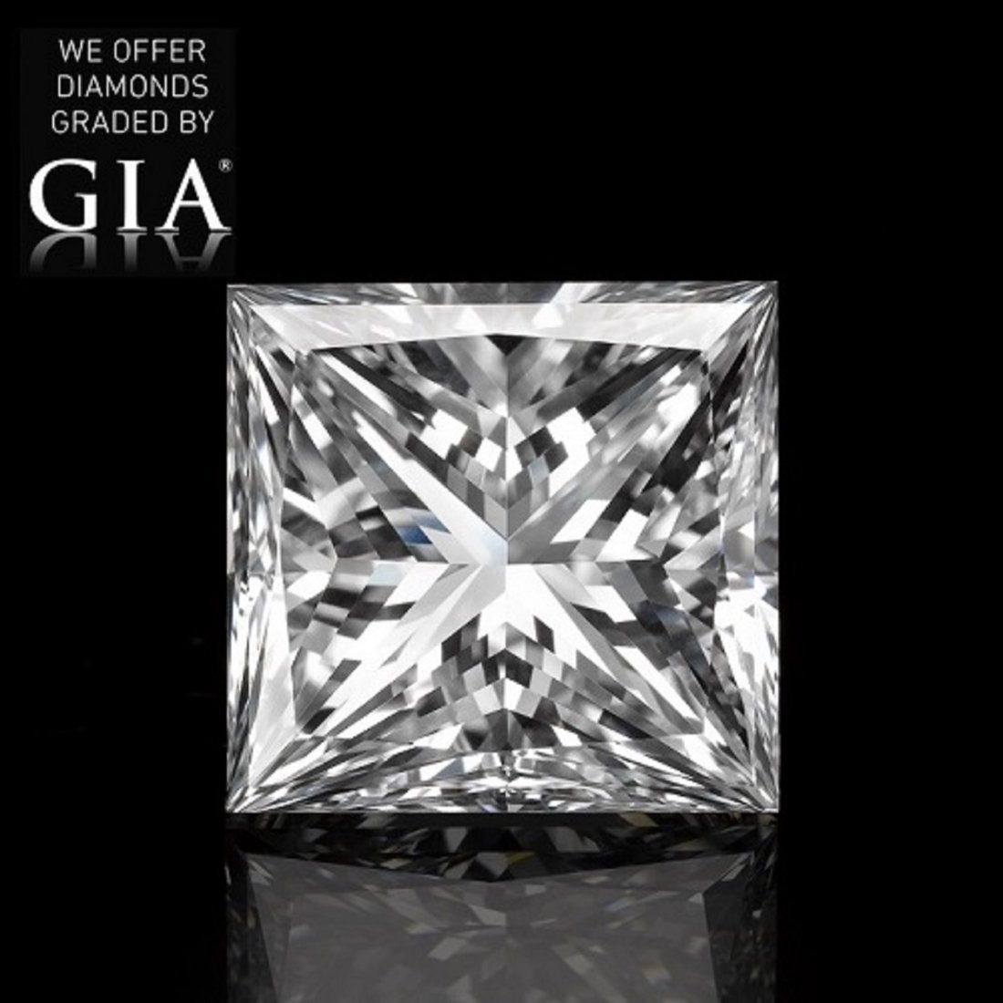 5.02 ct, Color F/VVS2, Princess cut Diamond